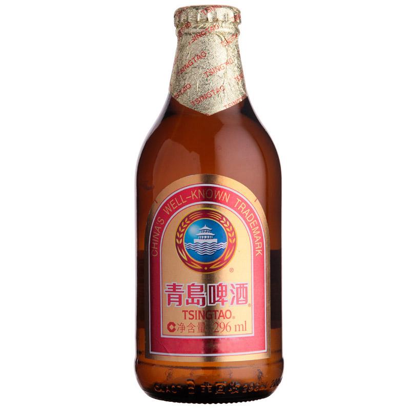 金质青岛啤酒小瓶 296ml*24瓶装只售江浙沪皖